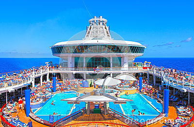 Cruise ship pool deck Editorial Image