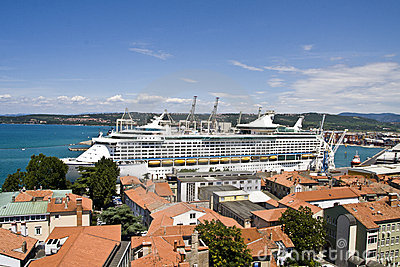 Cruise ship in port Editorial Photography