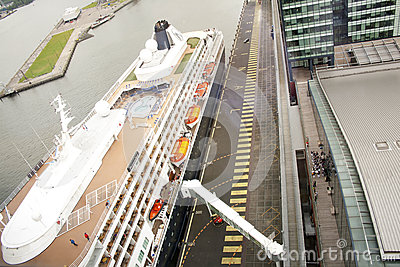 Cruise Ship in Port Editorial Stock Photo