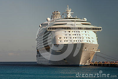 A cruise ship in port