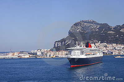 Cruise ship in port Gibraltar