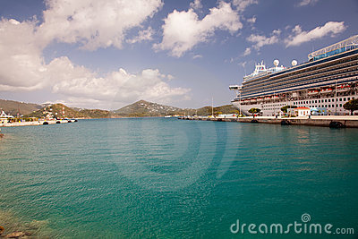 Cruise Ship in Port at St. Thomas