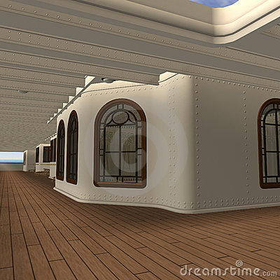 Cruise Ship Promenade Deck