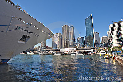 Cruise ship berthed Sydney Editorial Photo