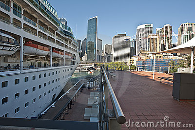Cruise ship at the Quay Editorial Stock Photo