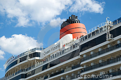 Cruise ship Queen Victoria Editorial Stock Image