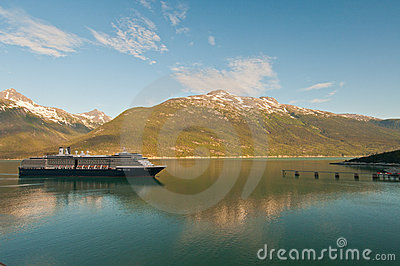 Cruise ship reaching destination Editorial Photo