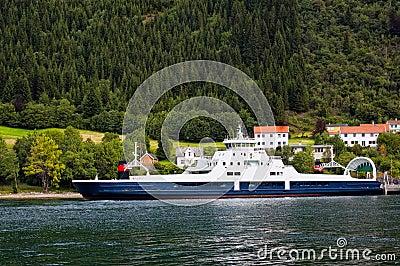 Cruise ship sailing along the river