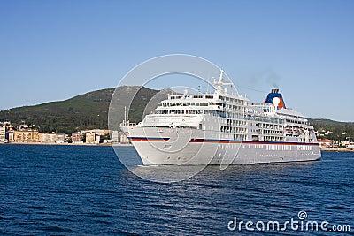 Cruise ship by sea