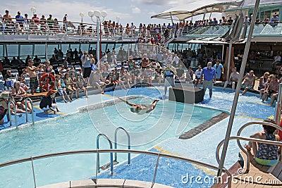 Cruise Ship At Sea Editorial Stock Photo