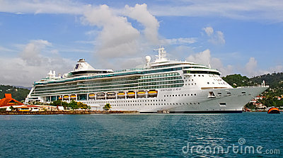 Cruise Ship Serenade Of The Seas In St. Lucia Royalty Free Stock Photography - Image: 20400457