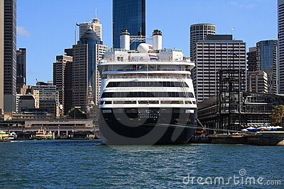 Cruise Ship SS Zaandam in Syndey Harbour Editorial Stock Image