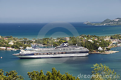 Cruise ship in St. Lucia