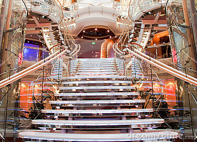 Cruise ship staircase