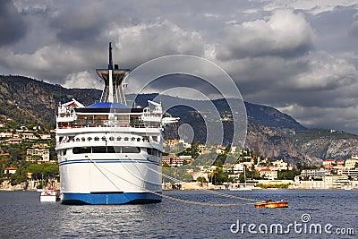 Cruise ship stern