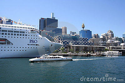 Cruise Ship, Sydney, Australia Editorial Photo
