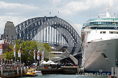 Cruise ship in Sydney Harbour Editorial Photography