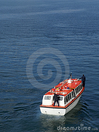 Cruise ship tender at sea
