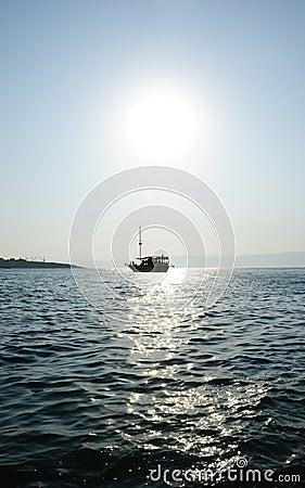 Cruise Ship Under The Sun