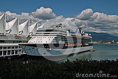 Cruise Ship, Vancouver BC Canada Editorial Stock Image