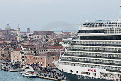 Cruise ship in Venice Editorial Stock Photo