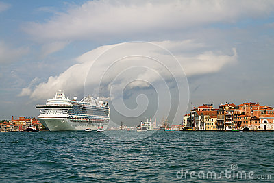 Cruise ship in Venice.