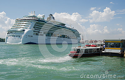 Cruise Ship in Venice Editorial Photo