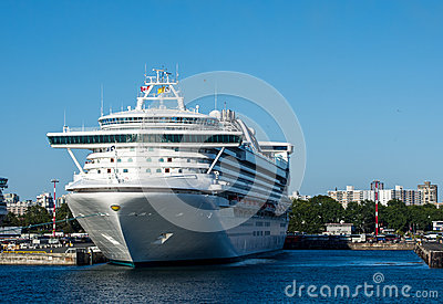 Cruise ship in Victoria Editorial Image