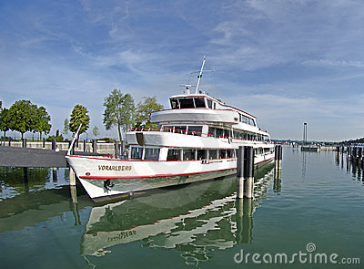 Cruise ship - Vorlarberg in harbour Bregenz Editorial Stock Image