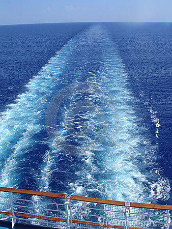 Free Cruise Ship Wake Royalty Free Stock Images - 1604959