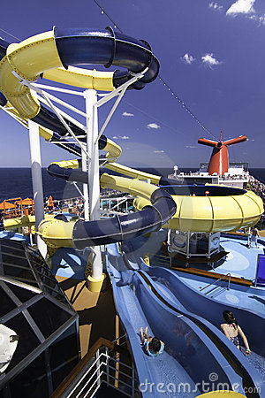 Cruise ship water park Editorial Photography