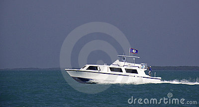 Cruise Ship Water Taxi in Belize Editorial Photo