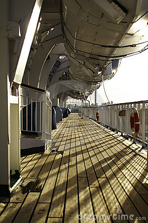 Cruise Ship Wooden Deck
