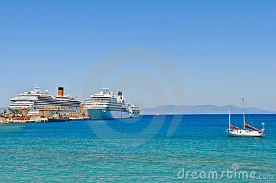 Cruise ships Editorial Stock Photo