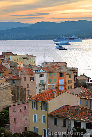 Free Cruise Ships At St.Tropez Stock Photos - 4726763