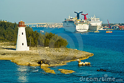 Cruise ships, Nassau Editorial Stock Photo