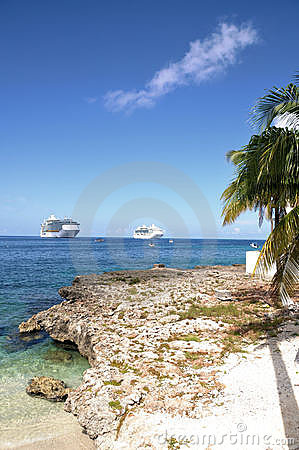 Cruise ships from the shore