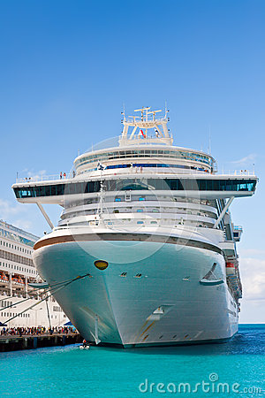 Cruise Ships in St. Maarten Editorial Stock Photo