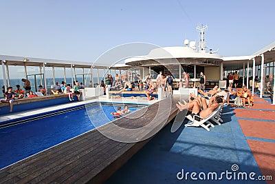 Cruise swimming pool Editorial Photo