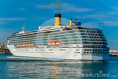 Cruiser Costa Mediterranea Editorial Stock Photo