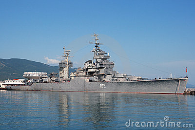 Cruiser Mikhail Kutuzov Editorial Stock Photo