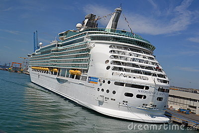 Cruiser ship Navigator of the Seas Editorial Stock Photo