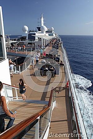Cruiseship deck view  Editorial Photo