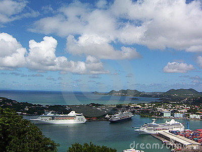 Cruiseship Port in St. Lucia