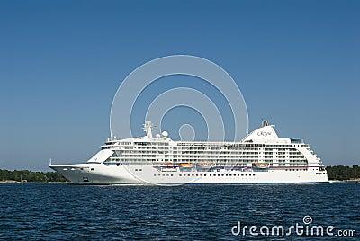 Cruiseship Seven Seas Voyager Editorial Photography