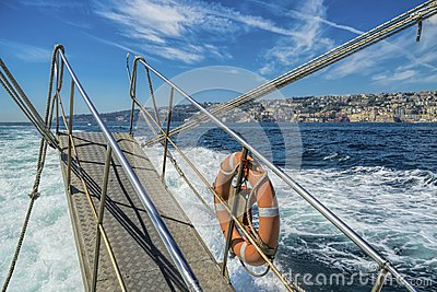 Cruising in the gulf of Naples