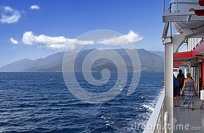 Cruising at the Ionian sea in Greece