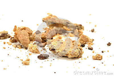 Crumbled cookie