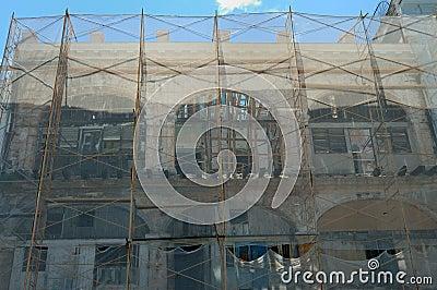 Crumbling havana building