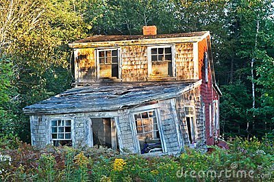 Crumbling in Owls Head, Maine Editorial Stock Photo